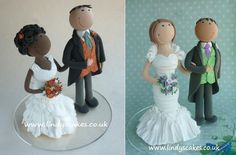 bride and groom cake toppers wedding cake toppers by Lindy Smith Wedding Cake Toppers, Wedding Cakes, Fondant People, Geek Magazine, Bride And Groom Cake Toppers, Cake Topper Tutorial, Fondant Figures, Wedding Couples, Bride Groom