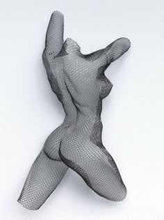 wire mesh #SCULPTURE : earth dance | mild steel mesh on MDF block panel | Nikki Taylor