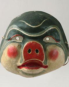 Chinese Pig Mask - papier mache