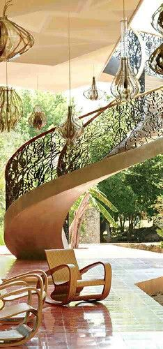heaven design design house design home design Design Exterior, Interior Exterior, Home Interior, Exterior Stairs, Architecture Maya, Interior Architecture, Grand Staircase, Staircase Design, Spiral Staircase