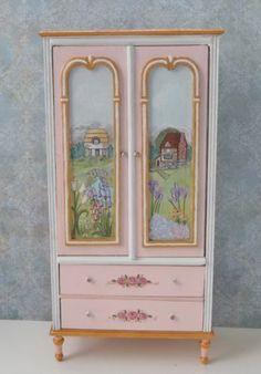 Hermosa 1:12 Escala Miniatura Cottage Armario