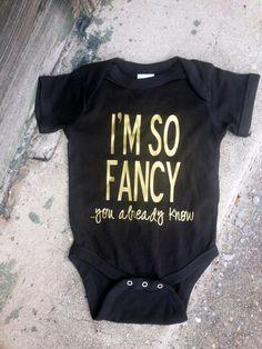 I'm So Fancy Onesie Baby Shower Gift by embellishboutiquellc
