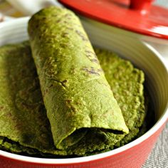 Pliable Gluten Free & Vegan Spinach Tortillas