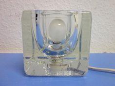 PEILL Lampe Tischlampe Eisglas 70er-Jahre pop art space age era Panton