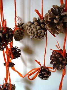 Halloween Garland Pumpkin Orange Thanksgiving Decor by kzannoart, $34.00