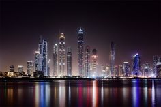 Dubai At Night By Unknown