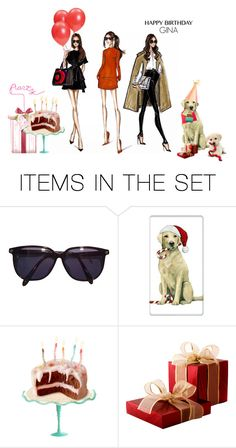 """""""Happy Birthday Gina"""" by beleev ❤ liked on Polyvore featuring art"""