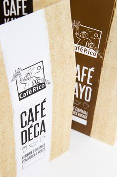CAFÉ RICO - PACKAGING by Romane Minner-B, via Behance
