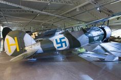 Gloster Gladiator / J8 (278 'H') In the clrs of F19 in Finland in the 1939-40 Winter War.Swedish Air Force Museum
