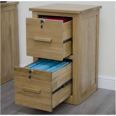 Arden Solid Oak Furniture Lockable Filing Cabinet