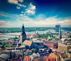 Photographic Print: Aerial View of Riga Center from St. Peter's Church, Riga, Latvia by : Uk Holidays, Cities In Europe, Shore Excursions, Cruise Excursions, Hotels, Aerial View, Old Town, Trip Advisor, Travel Destinations