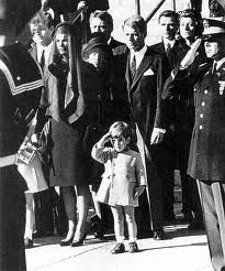 Nov 25, 1953: A little boy salutes his Dad   John F Kennedy funeral