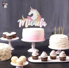 Personalized Unicorn Cake Topper, Unicorn Toppers, Fantasy Cake Topper, Unicorn Party Decor, Fairy Tale Engagement, Rainbow Birthday - Venue and reception decor (*Amazon Partner-Link)