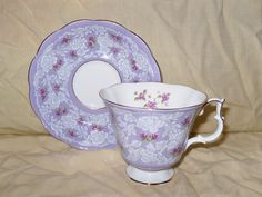Royal Albert True Love Lavender Lace Tea Cup and Saucer | eBay