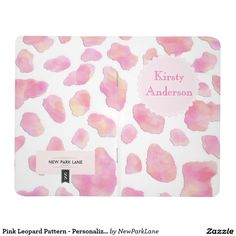 Pink Leopard Pattern - Personalized Pocket Journal