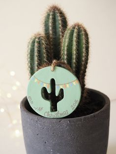 4034ad0b4 Cactus first Christmas ornament - Custom Christmas decoration - Cactus art  - Mr and Mrs decoration -Cactus Christmas ornament -Wedding gift
