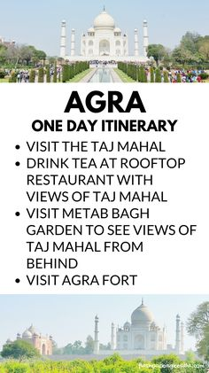 Travel India for one day in Agra itinerary for Taj Mahal visit, one of the 7 won… – India travel destinations - Travel Kerala Travel, India Travel, Morocco Travel, Cool Places To Visit, Places To Travel, Travel Destinations, Alone, Taj Mahal, Backpacking India