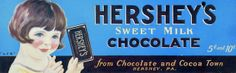 Hershey label, c. 1920s Ads, Hershey Factory, Hershey Candy, Tear Down, Vintage Signs, Label, Plant, Lifestyle, Plants