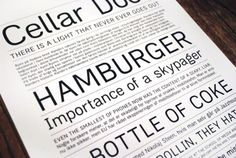 "Typeface Recommendation The 'Zimmer' typeface is a legible, simple sans serif font Julian Hansen. ""It is in the mould of classical neo-grotesque typefaces Typographic Poster, Typographic Design, Graphic Design Typography, Sans Serif Fonts, Flyers, Denmark, Identity, Packaging, Graphics"