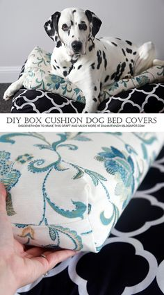 How to Sew a Box Cushion Style Dog Bed Cover | DIY Stylish Pet Beds (Made with Inexpensive and Repurposed Supplies!)