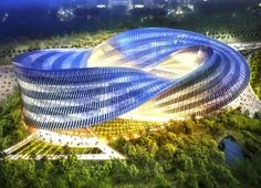 Swallows Nest: Vincent Callebaut Unveils Glittering Zero-Carbon Mobius Strip Cultural Center for Taiwan | Inhabitat - Sustainable Design Inn… #architecture ☮k☮