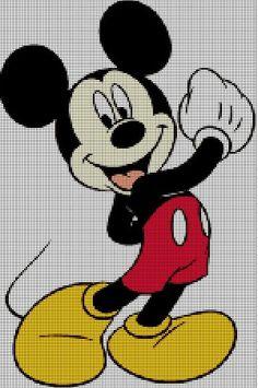 Mickey Mouse cross stitch pattern3 by Vandihand on Etsy