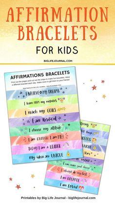 Affirmation Bracelets - Big Life Journal