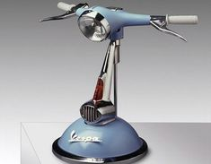 """Vespa Lamp from """"Creating the Perfect Home Office: Desk Accessories"""" Car Part Furniture, Automotive Furniture, Diy Luminaire, Modern Desk, Lamp Design, Diy Design, Industrial Style, Desk Lamp, Table Lamps"""