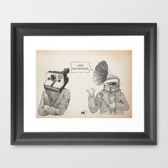how old school Framed Art Print by Börg - $37.00
