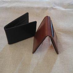 Billeteras de Clip Negra, cafè y roja!! $399