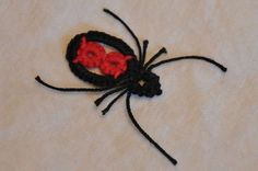 Classy/ cool looking spider to tat - small enough to wear as a pendant or would look cool to do a bunch and hang them around the house for halloween