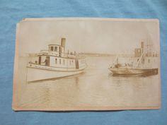 LITTLE TRAVERSE BAY PETOSKEY/HARBOR SPRINGS MICHIGAN PHOTOGRAPH CIRCA 1890 BOATS