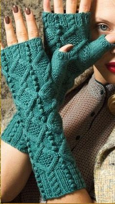 Wristers by Debbie Bliss - Vogue Knitting Fall 2012
