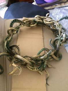 Medusa's crown I made for Halloween.