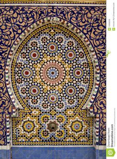typical-moroccan-tiled-fountain-12668209.jpg (957×1300)
