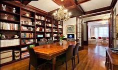 Liking this 3 BR UWS Co-Op library/dining room but the kitchen needs some work