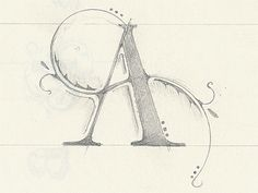 Dribbble - The Letter A by Philip Eggleston