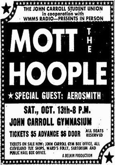 Mott The Hoople Concert Poster*2x3 Fridge Magnet* Rock N Roll Band Aerosmith Oh