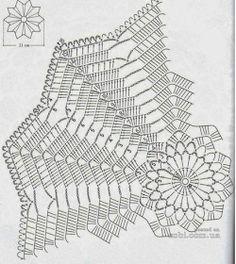 Home Decor Crochet Patterns Part 118 - Beautiful Crochet Patterns and Knitting Patterns Free Crochet Doily Patterns, Crochet Doily Diagram, Crochet Vest Pattern, Modern Crochet Patterns, Crochet Chart, Thread Crochet, Crochet Designs, Crochet Doilies, Tatting Patterns