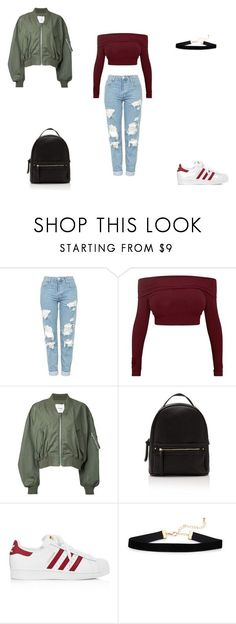 """Outfit for school"" by sheilahudsonx on Polyvore featuring Topshop, Clane and adidas"