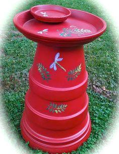 12 DIY Bird Bath Ideas To Attract Birds To Your Garden Make a birdbath from terra cotta pots Clay Pot Projects, Clay Pot Crafts, Flower Pot Crafts, Flower Pots, Flowers, Garden Crafts, Garden Projects, Garden Ideas, Terra Cotta Bird Bath