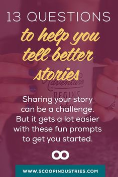 STORYTELLING BOOTCAMP :: Facts don't make connections and engage your readers in the same way storytelling does. If you want to succeed online, you need to fire up your digital storytelling. *PIN* these 13 thought provoking questions and find stories for your writing and business.: