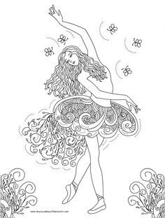 coloring pages of barbies | Dancing and Singing Barbie Coloring Pages