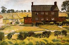 Stanley Spencer The Red House. Wangford., 1926