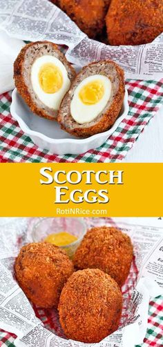 Scotch Eggs are hard boiled eggs wrapped in flavorful sausage meat and deep fried. Easy to prepare and very yummy. Fish Recipes, Seafood Recipes, Appetizer Recipes, Cooking Recipes, Sausage Wrap, Breakfast Meat, Breakfast Dishes, Boiled Eggs