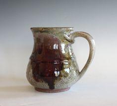 Stonware Mug 14 oz handmade ceramic cup handthrown by ocpottery