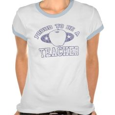 Collegiate Proud Teacher Ladies Ringer T-Shirt  Click on photo to purchase. Check out all current coupon offers and save! http://www.zazzle.com/coupons?rf=238785193994622463&tc=pin