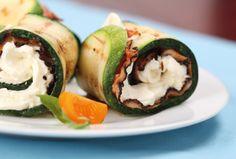 Rollitos de #Calabacín con queso de untar #cena #rápida #saludable #fácil #receta