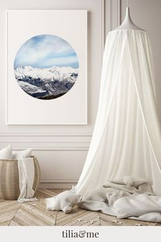 A minimalist Scandinavian inspired photography print with a simple   circle shape. I created this art print from a photograph taken in France   where I went skiing some years ago. I remember the stillness of the   mountains surrounding me as I was enjoying the view and as I took this   picture. Simple Interior, Nordic Interior, Minimalist House Design, Minimalist Home Decor, Earthy Home Decor, Minimalist Scandinavian, Nature Artwork, Unique Wall Decor, Gallery Walls