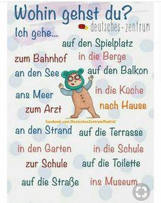 Deutsch - Picture of List Study German, German English, Learn English, Learn French, German Grammar, German Words, German Resources, Deutsch Language, Germany Language